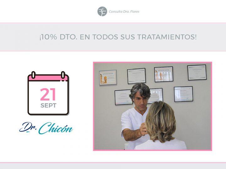 Visita del Dr. Chicón ¡y 10% de descuento!